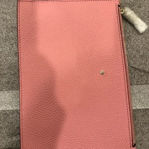 Kate Spade Simple Pink Pouch 8.5x5.5 Brand New